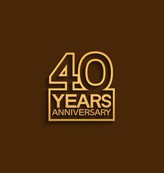 40 years anniversary design line style vector