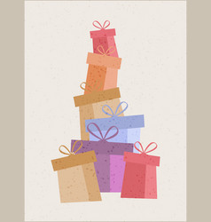 A set of gift boxes vector