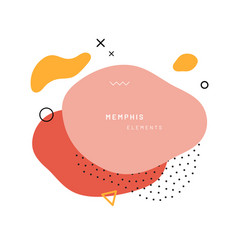 Abstract geometric shapes in memphis style vector