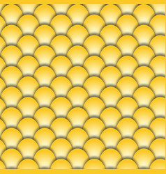 Abstract seamless background form golden fish vector