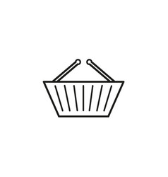 basket shop icon vector image