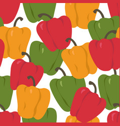 Bell pepper colorful paprika seamless pattern vector