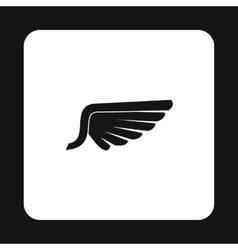 Birds wing with feathers icon simple style vector image