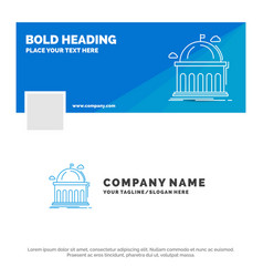 blue business logo template for library school vector image