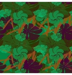 Bright wallpaper seamless vintage flower pattern vector image