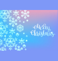 card with crystal snowflakes vector image