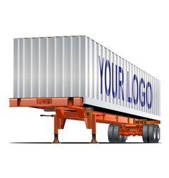 Cargo semi trailer vector