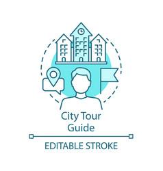 City tour guide concept icon tours organisation vector