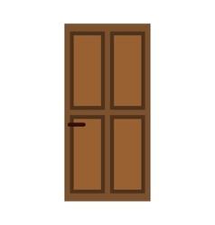 Classic wooden door icon flat style vector image