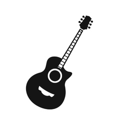 Classical guitar icon simple style vector image