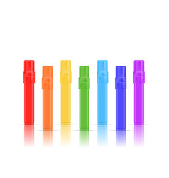 colorful realistic markers set isolated on white vector image