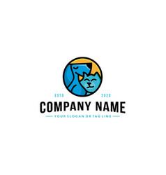 Creative pet logo design vector