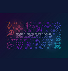 delegating horizontal bright vector image
