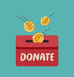 Donate finance fundraising in donation box vector
