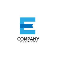 E-book logo design template education logo design vector