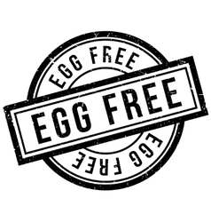 Egg free rubber stamp vector