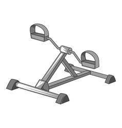 Exercise bike icon gray monochrome style vector