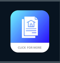 file document house mobile app button android and vector image