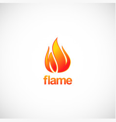 flame fire logo vector image