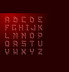 Font english letters alphabet cubic with shadows vector