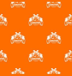 gangsters pattern orange vector image
