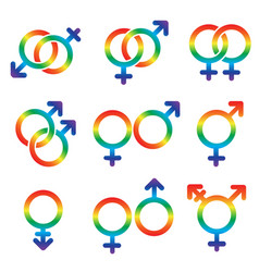 gender and sexual orientation icon set lgbt vector image