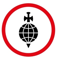 Global Guard Flat Rounded Icon vector image
