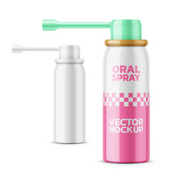 glossy oral spray bottle template vector image vector image