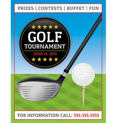 Golf Tournament Flyer vector image