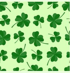 green lucky clover seamless pattern vector image