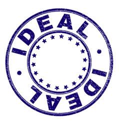 Grunge textured ideal round stamp seal vector