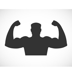 Gym design and street workout icon vector image