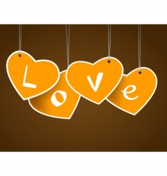 hanging hearts vector image