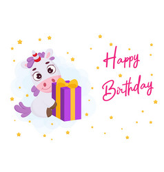 Happy birthday printable party greeting card vector