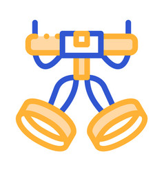Harness alpinism hooking device tool icon vector
