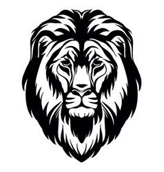 Head mascot lion head isolated on white vector