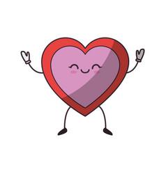 Heart and love cartoon vector