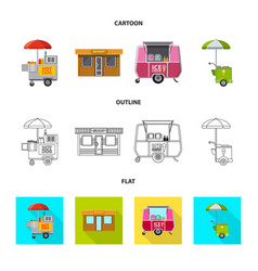 Isolated object of market and exterior logo set vector