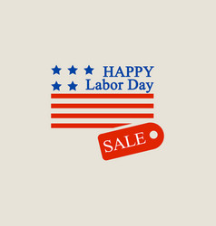 labor day sale logo flat style vector image