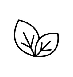 Leaves rural agriculture thick line vector