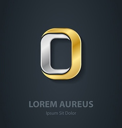 Letter o template for company logo 3d design vector