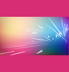 lines abstract on blurred colorful background vector image
