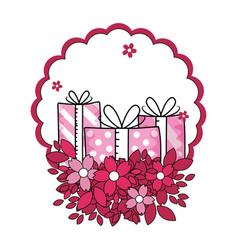Love valentines gifts cartoon vector