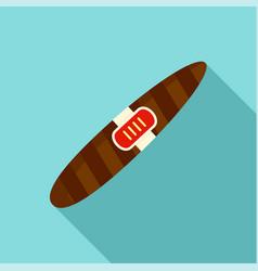 Luxury cigar of cuba icon flat style vector