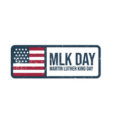 martin luther king jr day stamp vector image