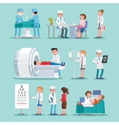 Medical Treatment Icons Set vector