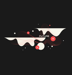 modern backgrounds with abstract elements vector image