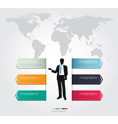 Modern infographic for business project with silho vector image