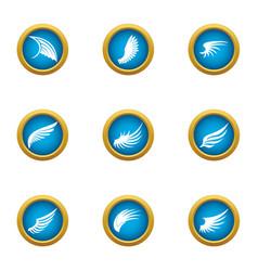 Mudguard icons set flat style vector