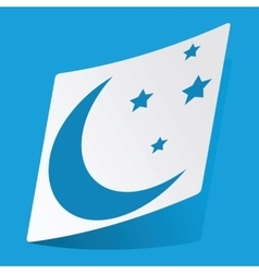 Night sticker vector image